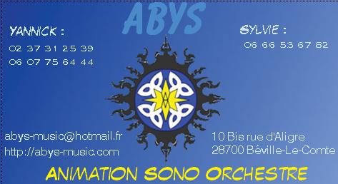 Carte De Visite Du Groupe ABYS Music